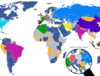World map showing the popularity of social..