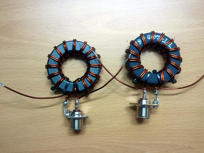 BLOG :: HL2UVH : 4:1 Voltage Balun with Cores, FT-240-43 vs